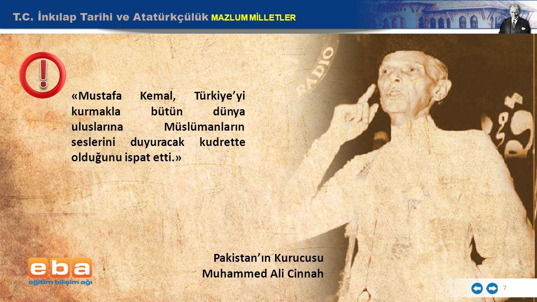 Pakistan'ın Kurucusu Muhammed Ali Cinnah