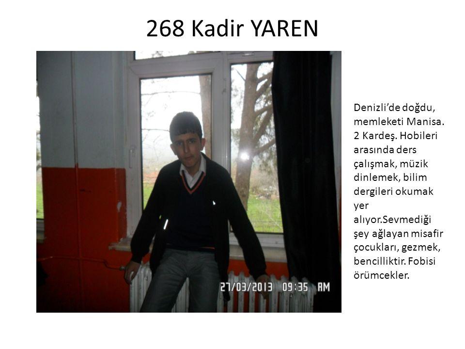 268 Kadir YAREN