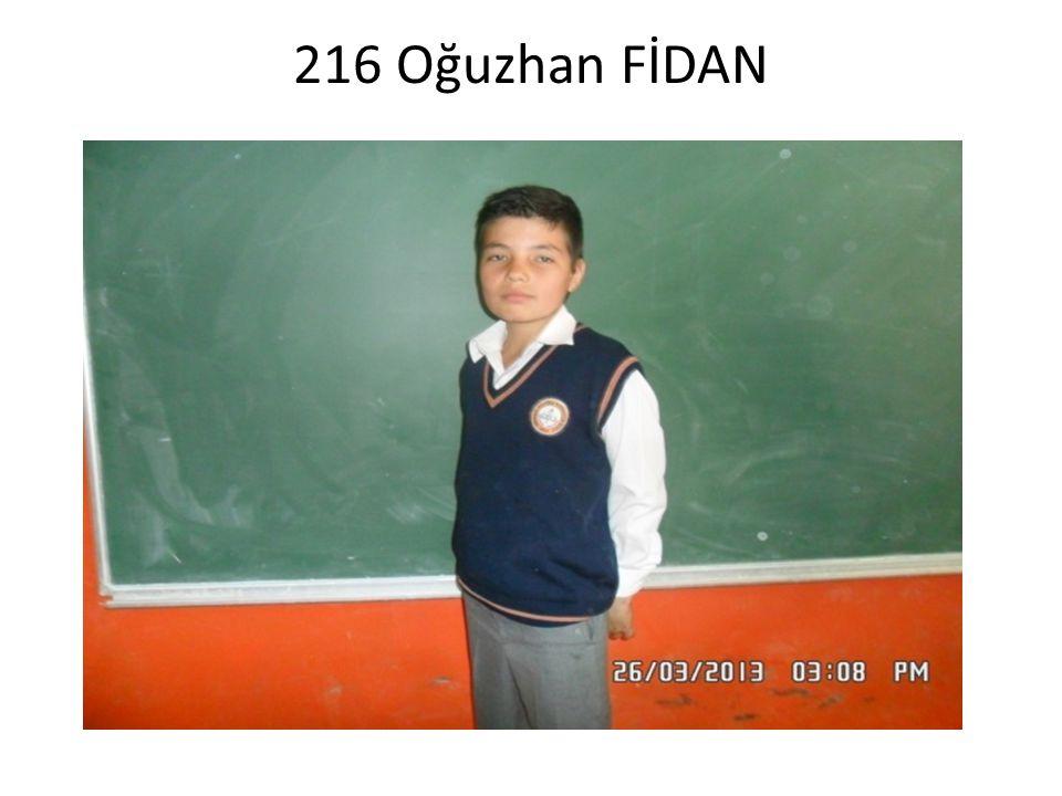216 Oğuzhan FİDAN