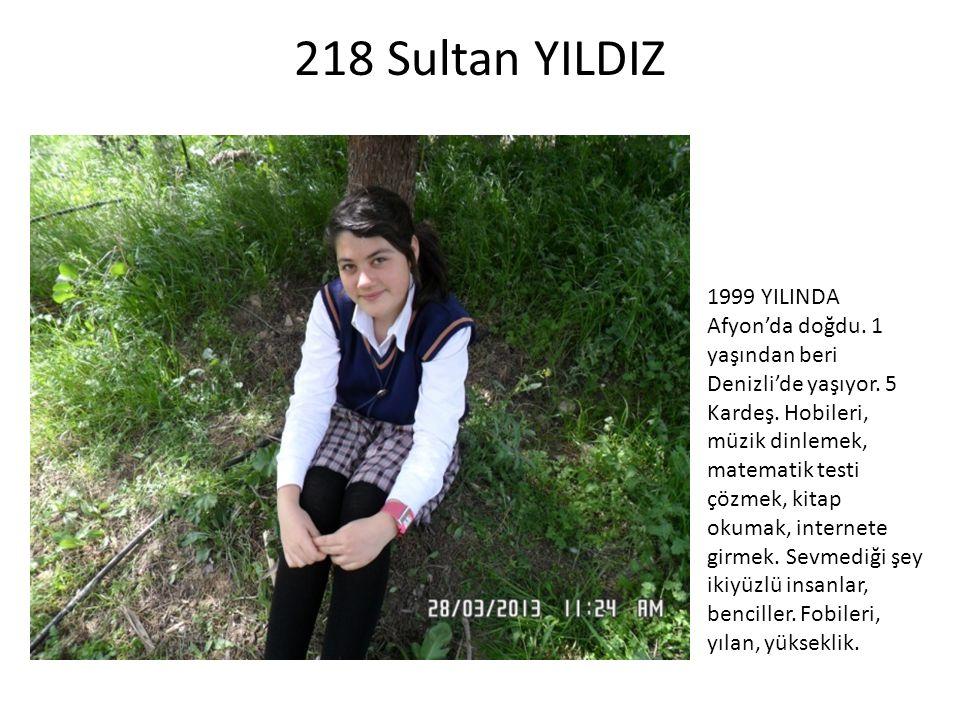218 Sultan YILDIZ