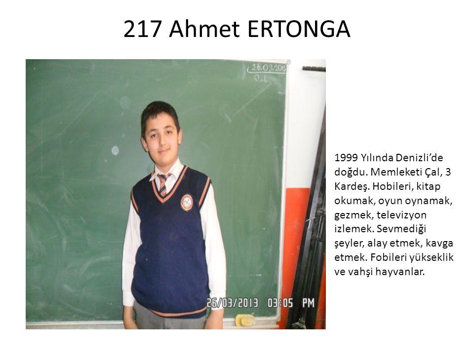 217 Ahmet ERTONGA