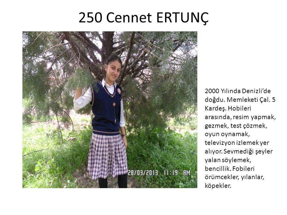 250 Cennet ERTUNÇ
