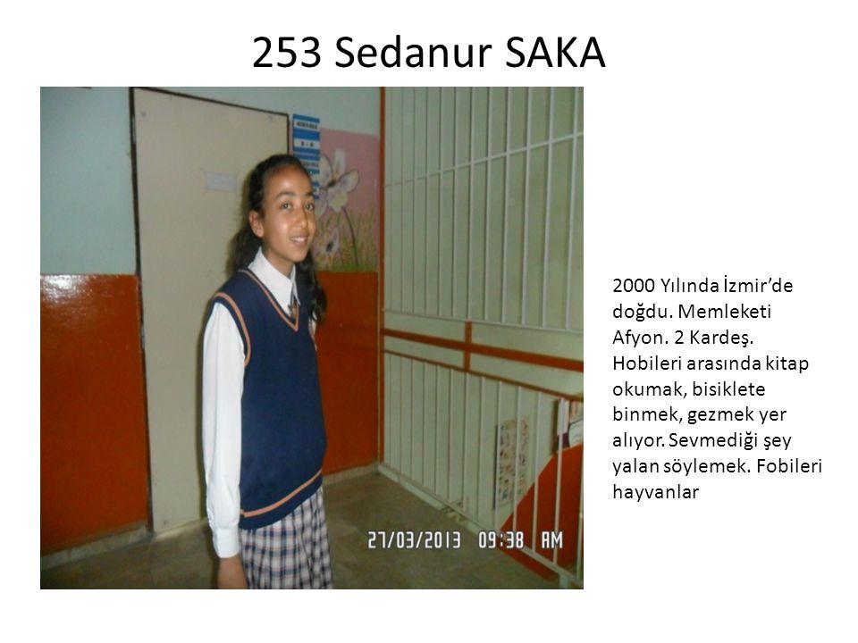 253 Sedanur SAKA