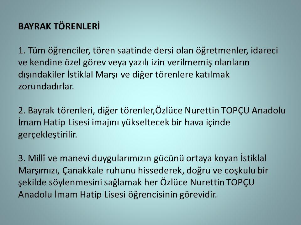 BAYRAK TÖRENLERİ 1.