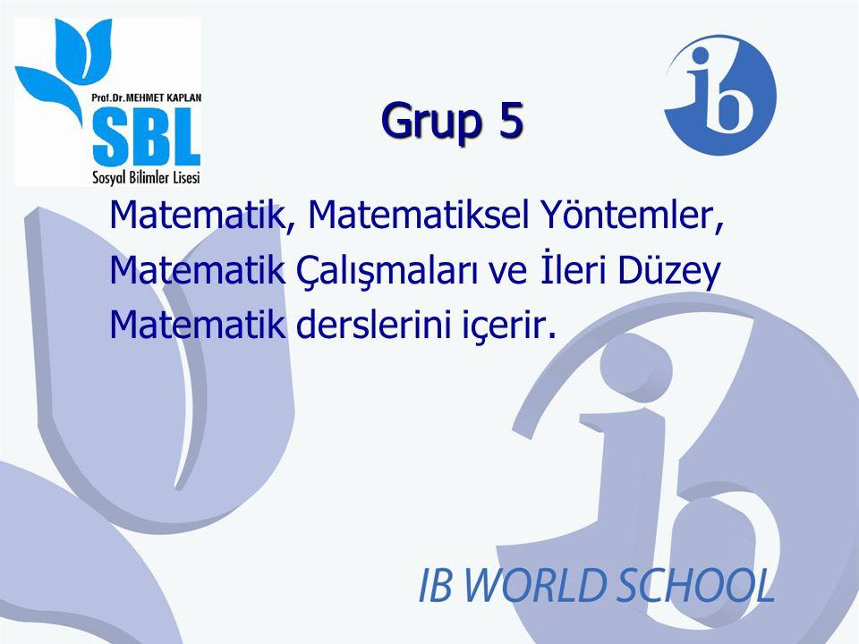 Grup 5 Matematik, Matematiksel Yöntemler,