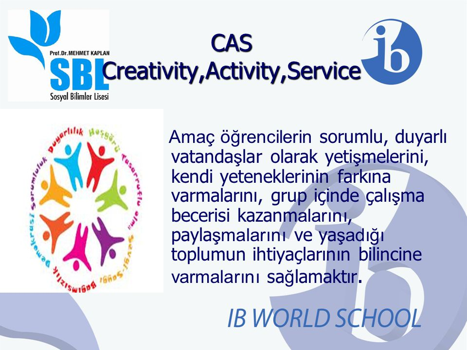CAS Creativity,Activity,Service