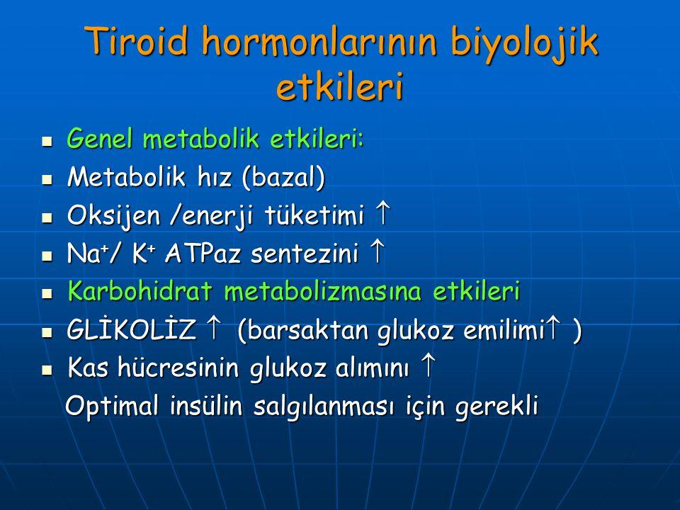 Tiroid hormonlarının biyolojik etkileri