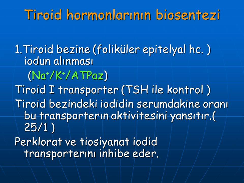 Tiroid hormonlarının biosentezi
