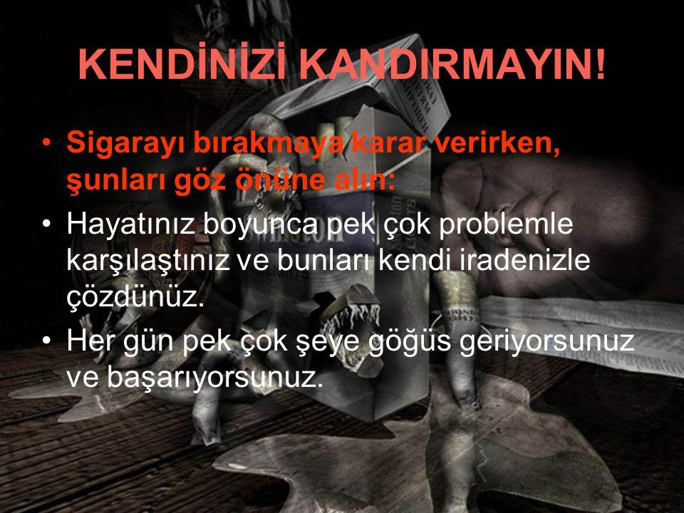 KENDİNİZİ KANDIRMAYIN!