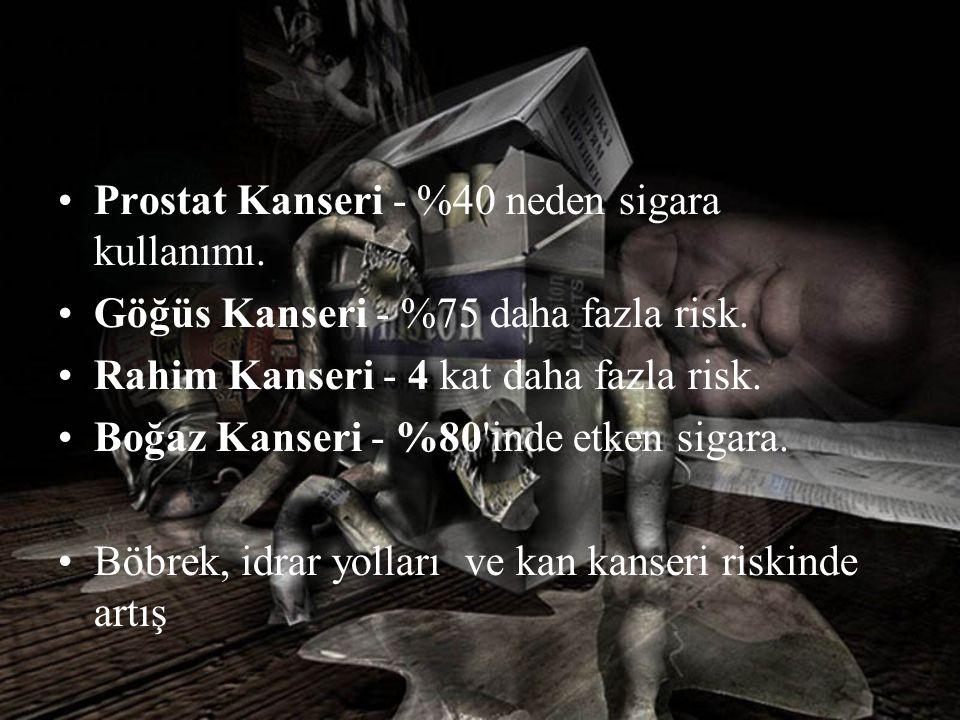 Prostat Kanseri - %40 neden sigara kullanımı.