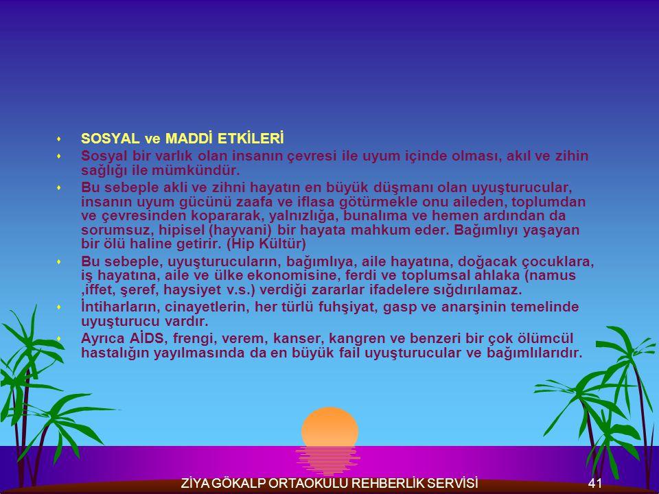 ZİYA GÖKALP ORTAOKULU REHBERLİK SERVİSİ