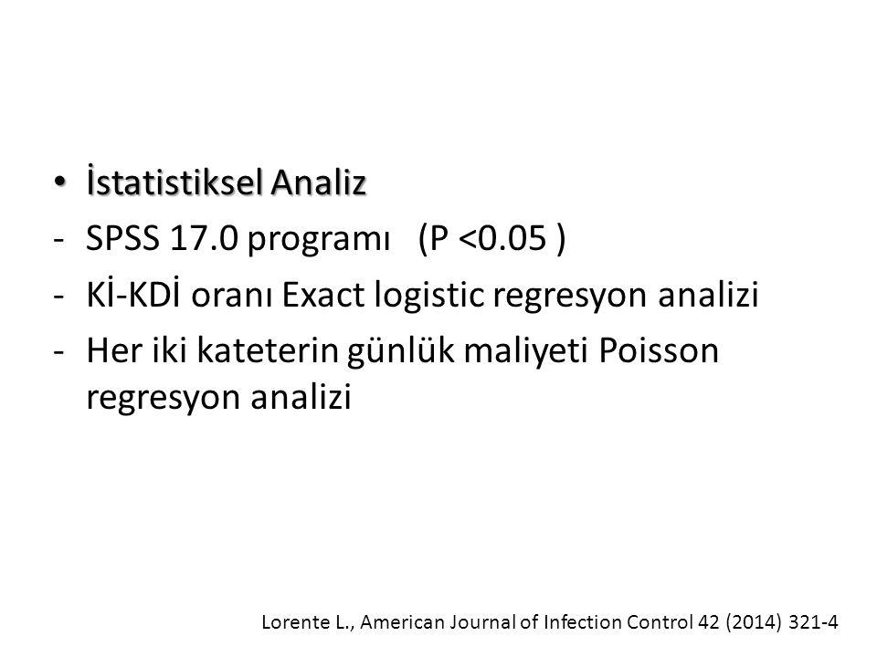 Kİ-KDİ oranı Exact logistic regresyon analizi