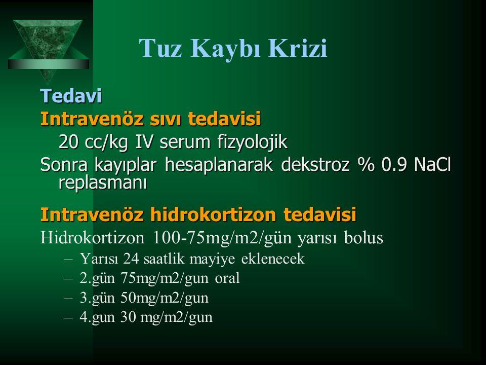 Tuz Kaybı Krizi Tedavi Intravenöz sıvı tedavisi