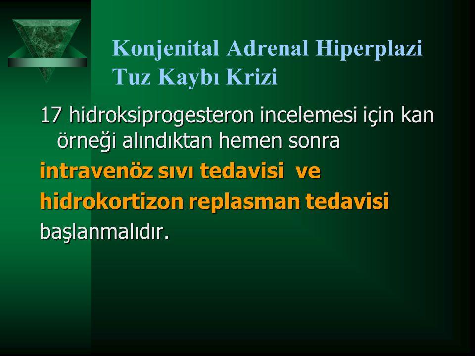 Konjenital Adrenal Hiperplazi Tuz Kaybı Krizi