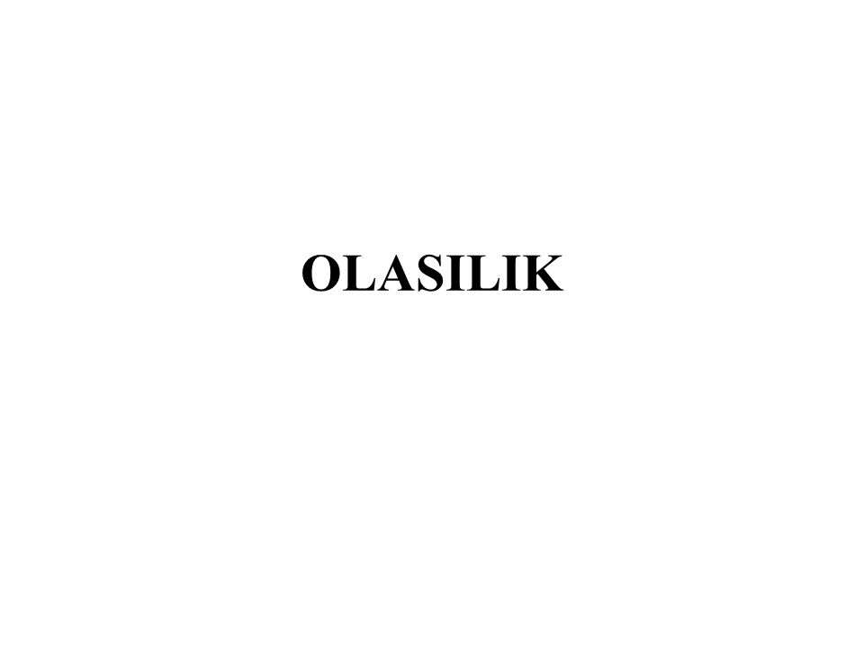 OLASILIK