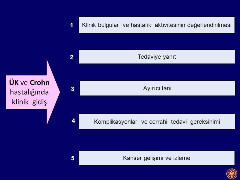 ÜK ve Crohn hastalığında klinik gidiş