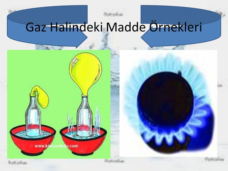Gaz Halindeki Madde Örnekleri