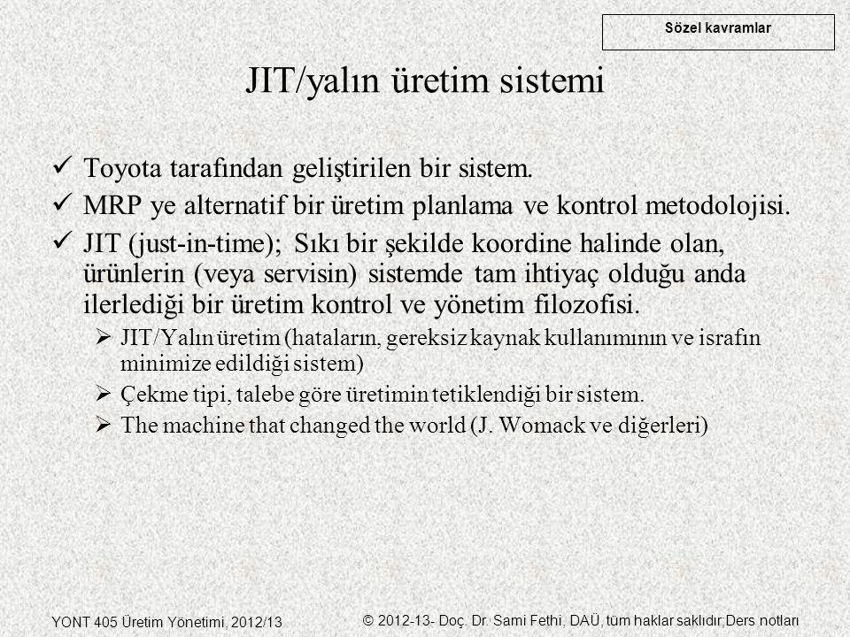 JIT/yalın üretim sistemi