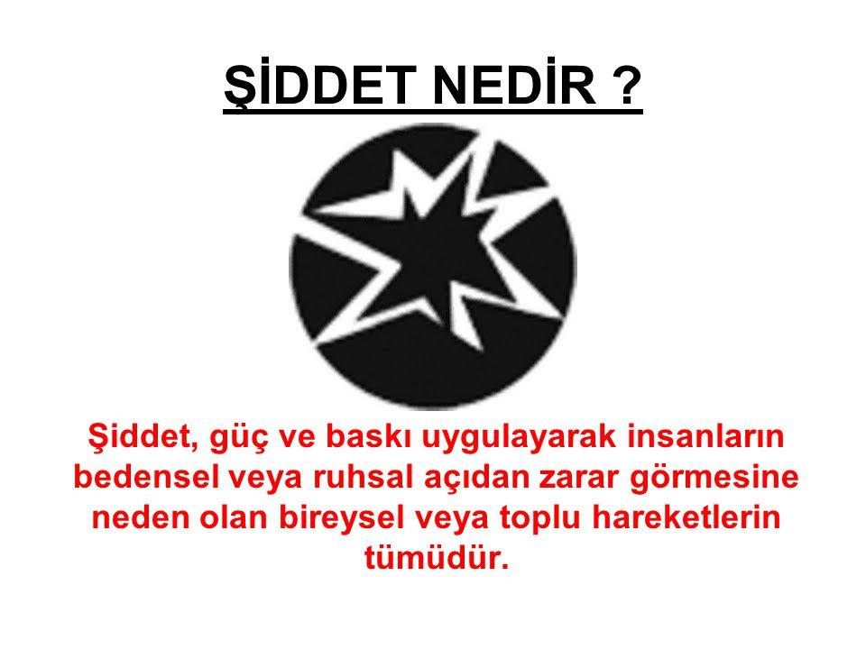 ŞİDDET NEDİR