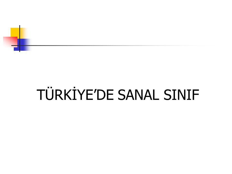TÜRKİYE'DE SANAL SINIF
