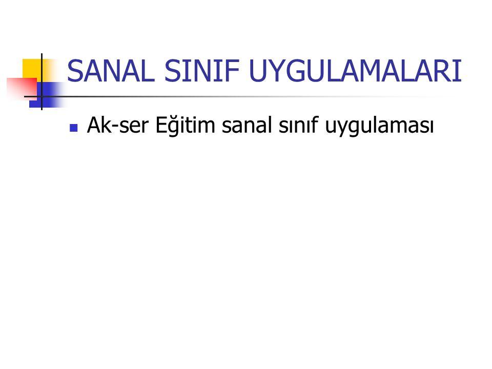 SANAL SINIF UYGULAMALARI