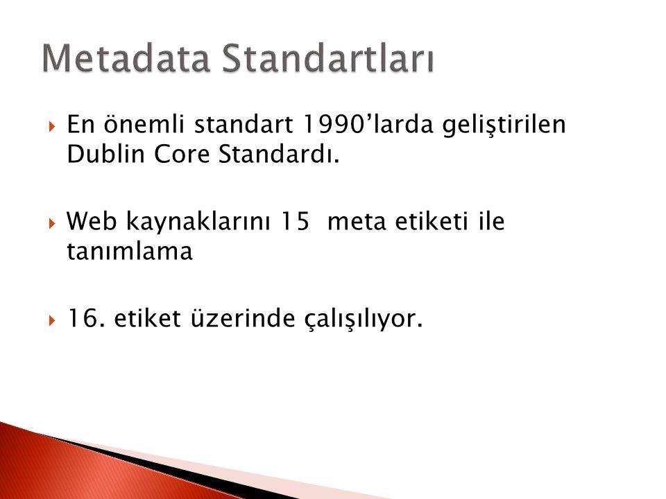 Metadata Standartları