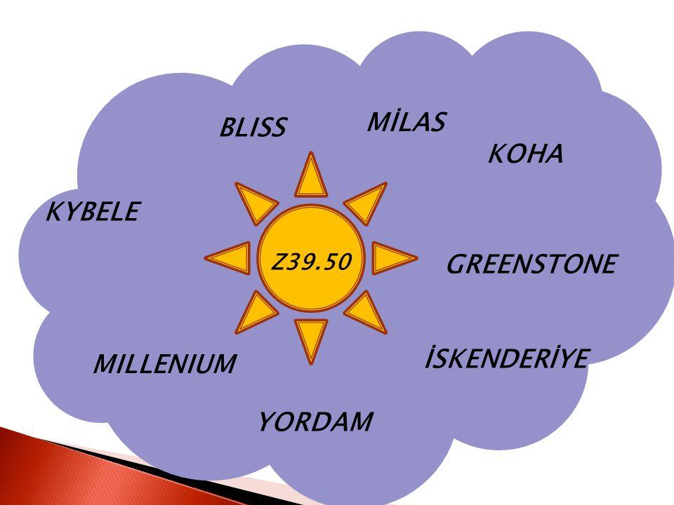 MİLAS BLISS KOHA KYBELE Z39.50 GREENSTONE İSKENDERİYE MILLENIUM YORDAM