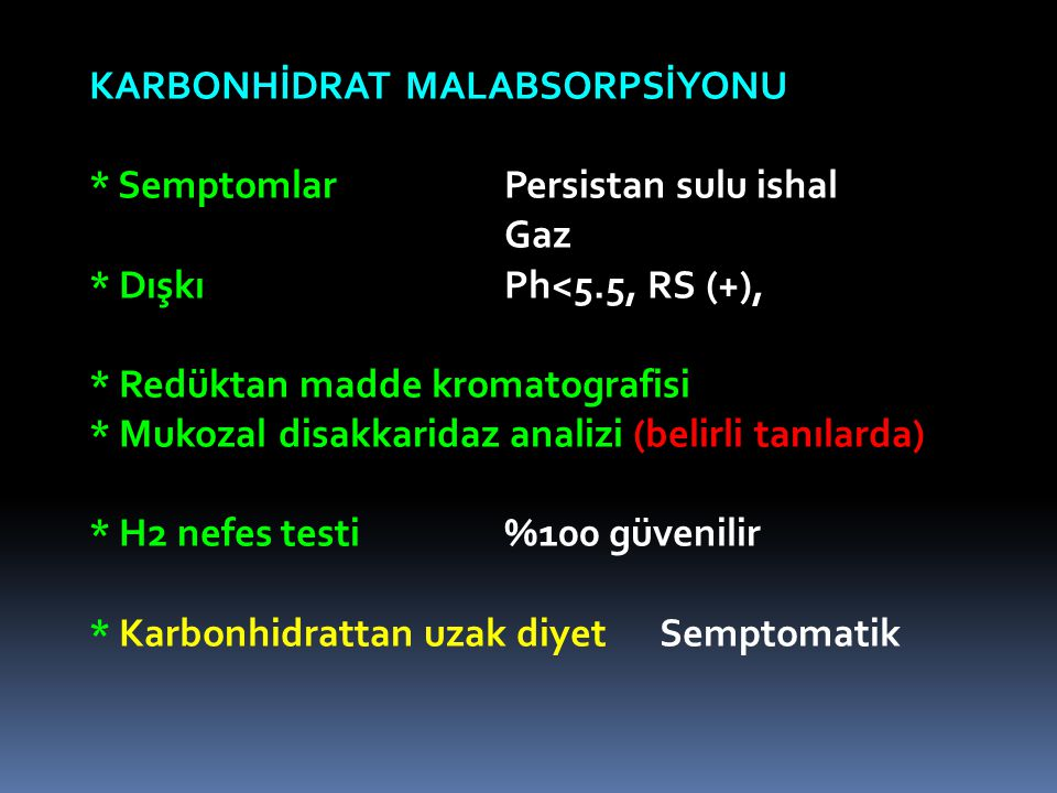 KARBONHİDRAT MALABSORPSİYONU