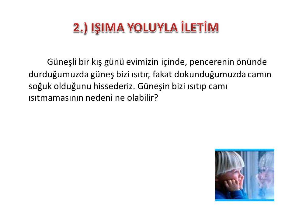 2.) IŞIMA YOLUYLA İLETİM