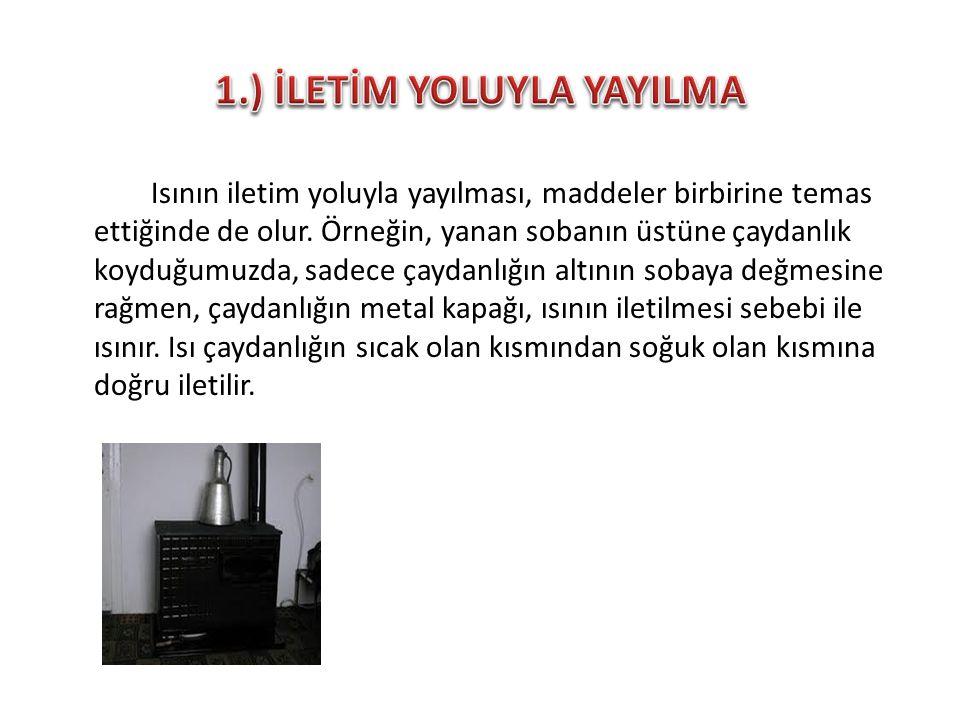 1.) İLETİM YOLUYLA YAYILMA