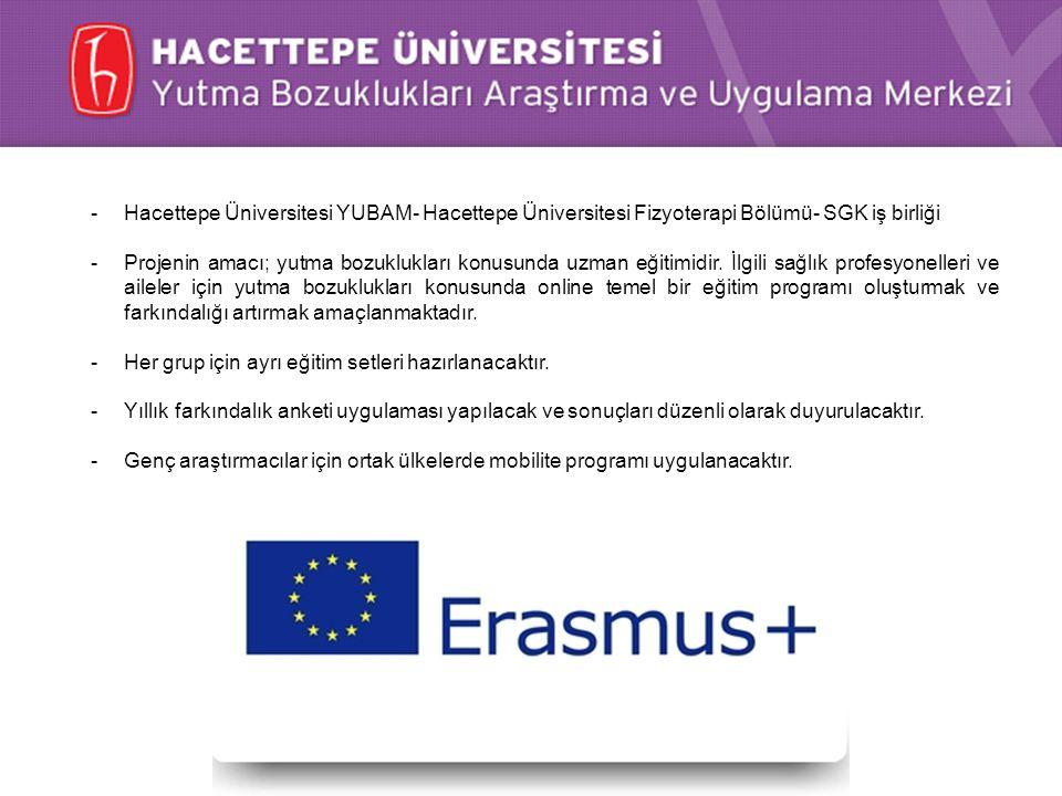Hacettepe Üniversitesi YUBAM- Hacettepe Üniversitesi Fizyoterapi Bölümü- SGK iş birliği