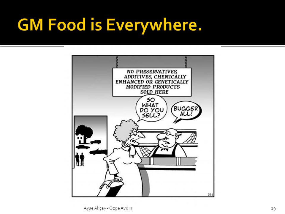GM Food is Everywhere. Ayşe Akçay - Özge Aydın