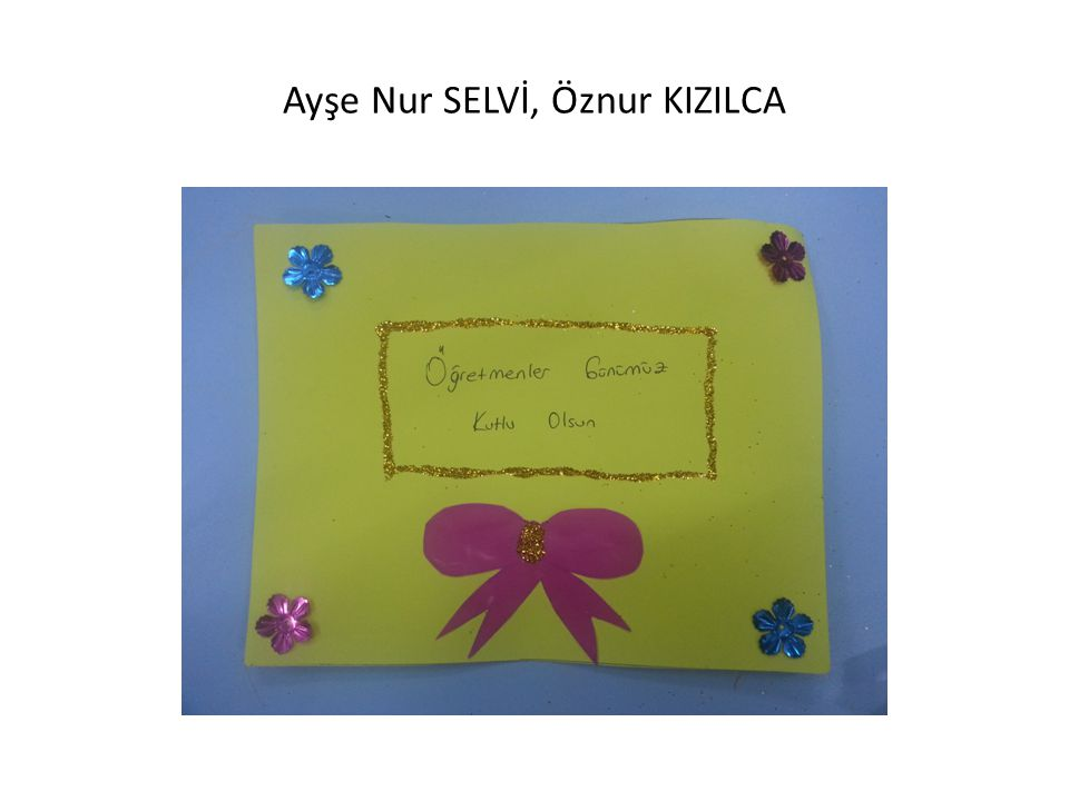 Ayşe Nur SELVİ, Öznur KIZILCA