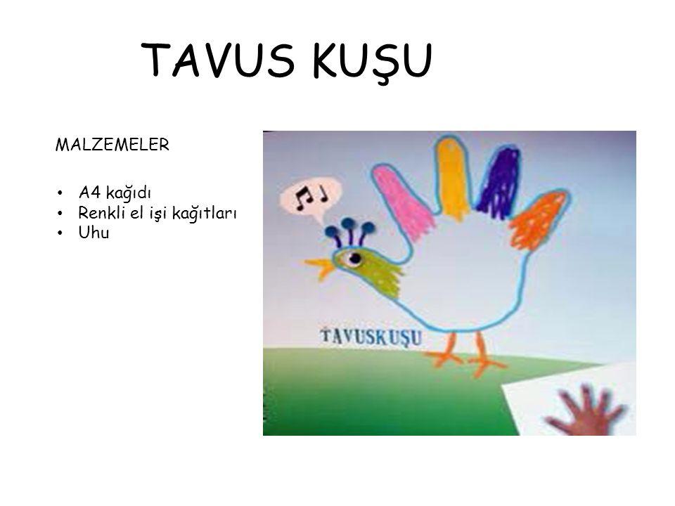 TAVUS KUŞU MALZEMELER A4 kağıdı Renkli el işi kağıtları Uhu