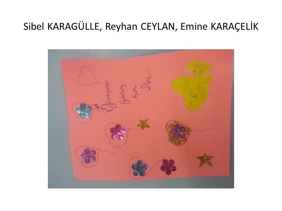 Sibel KARAGÜLLE, Reyhan CEYLAN, Emine KARAÇELİK