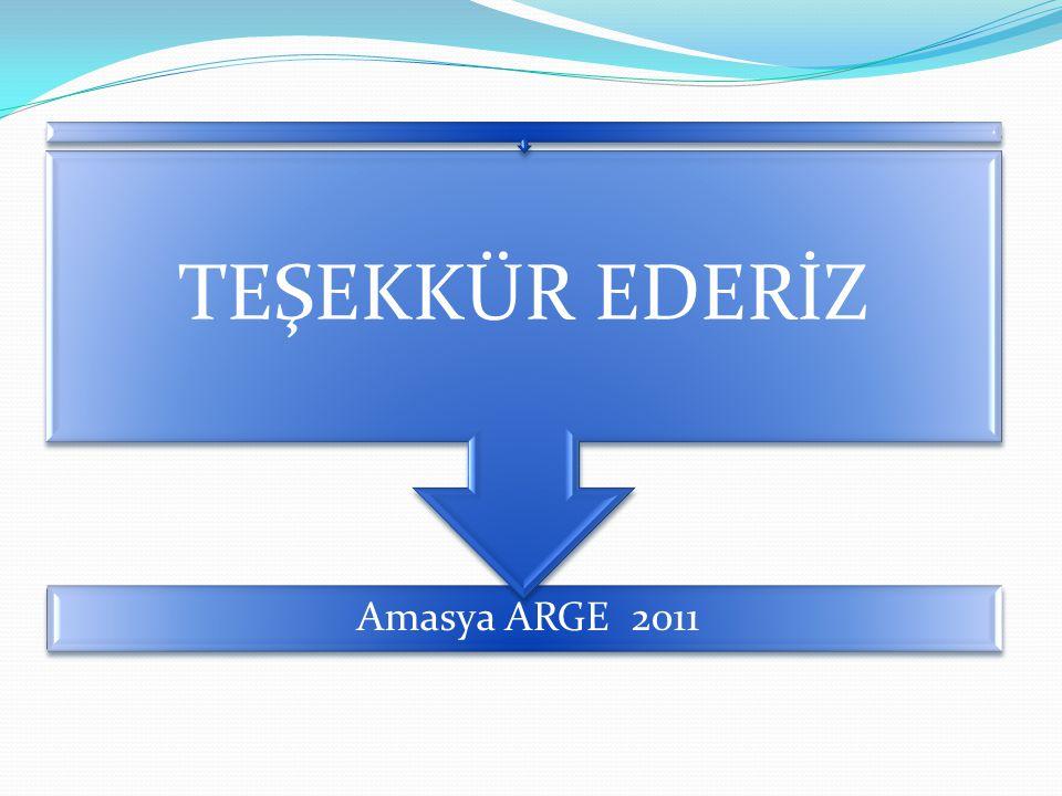 TEŞEKKÜR EDERİZ Amasya ARGE 2011