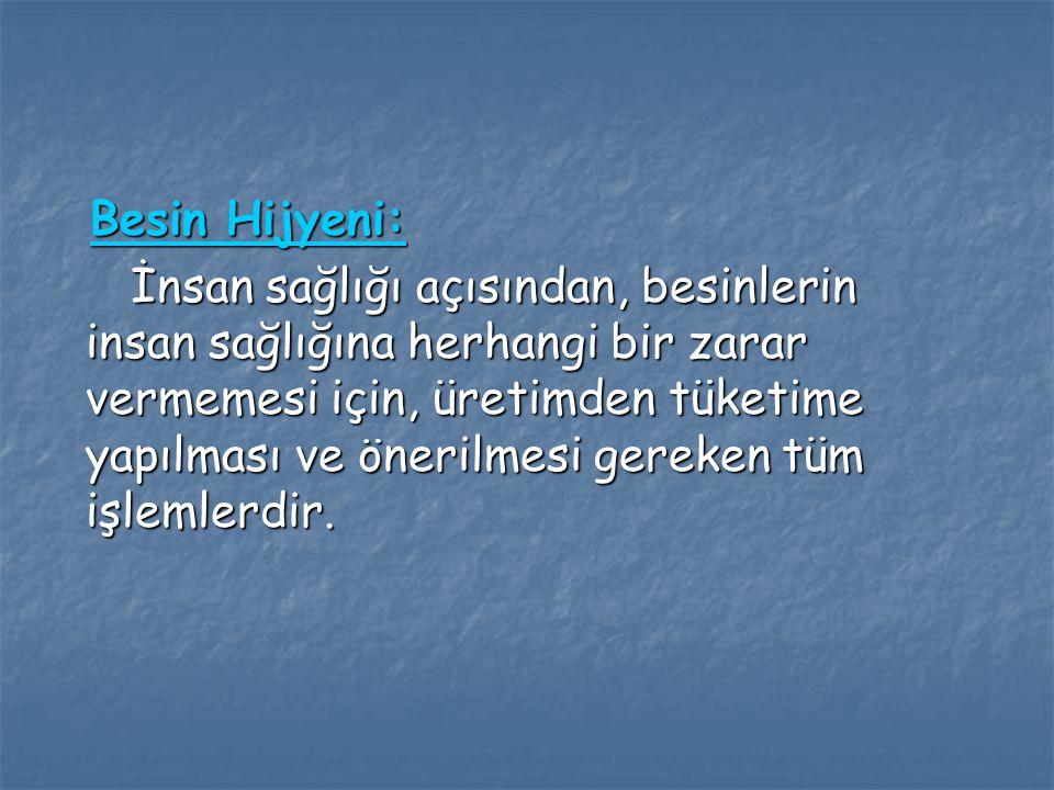 Besin Hijyeni: