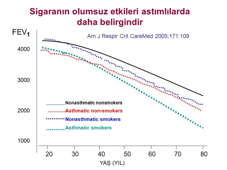 Sigaranın olumsuz etkileri astımlılarda