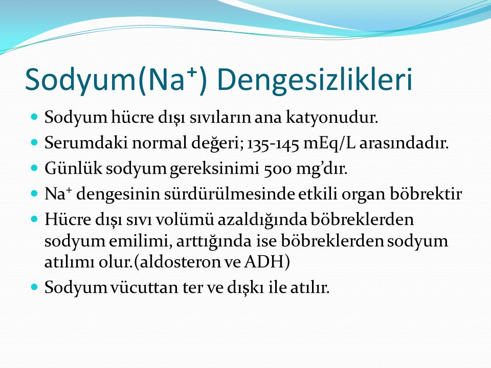 Sodyum(Na⁺) Dengesizlikleri