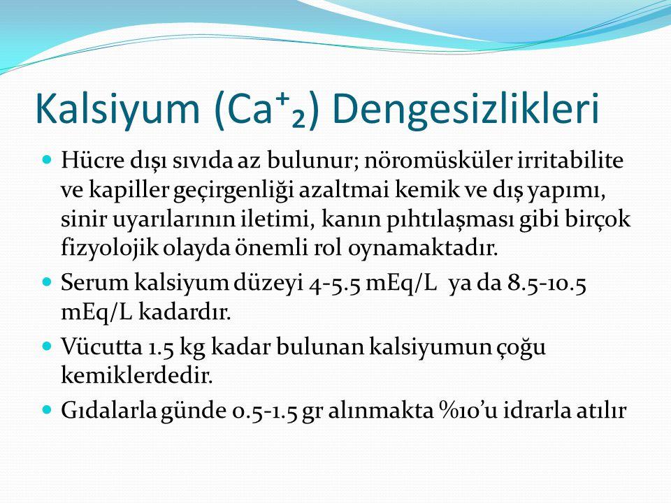 Kalsiyum (Ca⁺₂) Dengesizlikleri