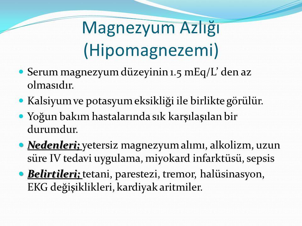 Magnezyum Azlığı (Hipomagnezemi)