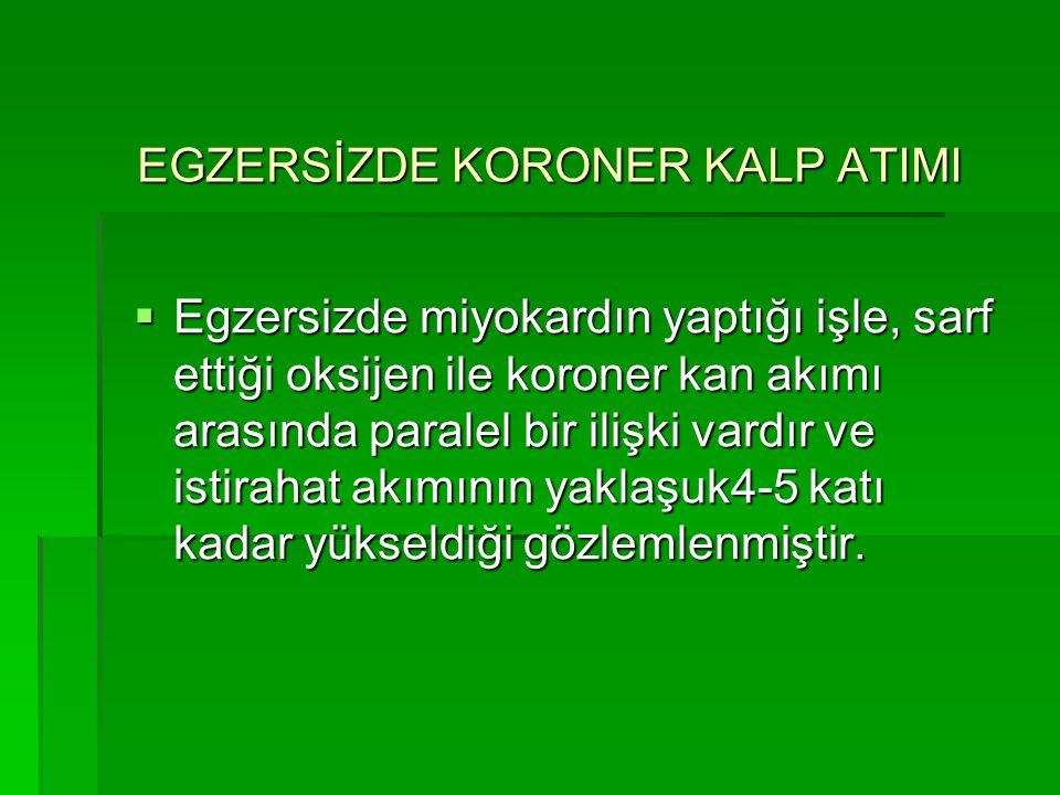 EGZERSİZDE KORONER KALP ATIMI