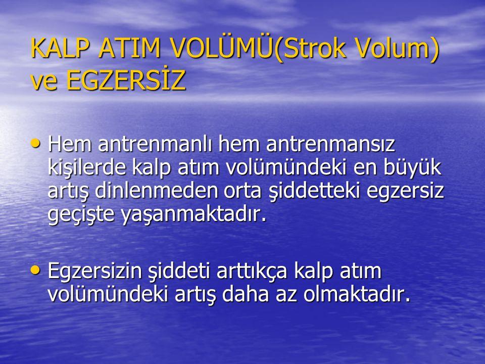 KALP ATIM VOLÜMÜ(Strok Volum) ve EGZERSİZ