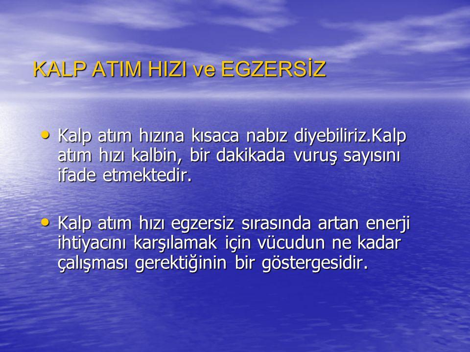 KALP ATIM HIZI ve EGZERSİZ