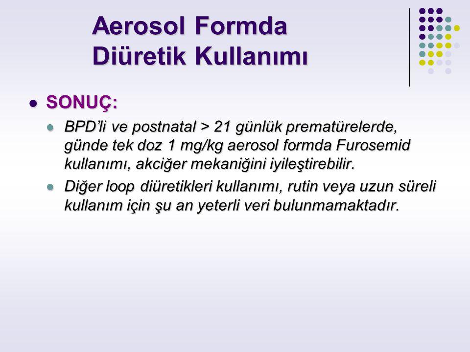 Aerosol Formda Diüretik Kullanımı