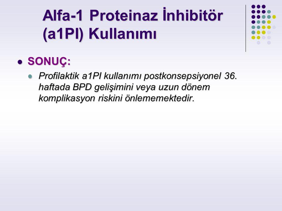 Alfa-1 Proteinaz İnhibitör (a1PI) Kullanımı