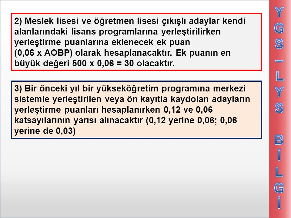 YGS – LYS Bİ. LGİ.