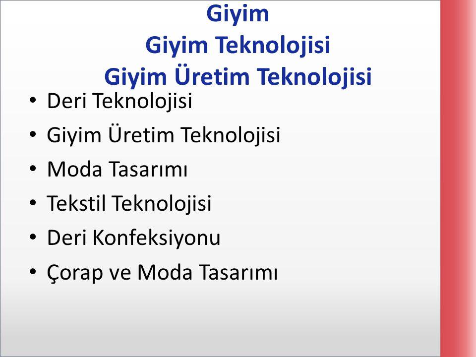 Giyim Giyim Teknolojisi Giyim Üretim Teknolojisi