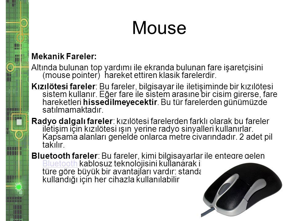 Mouse Mekanik Fareler: