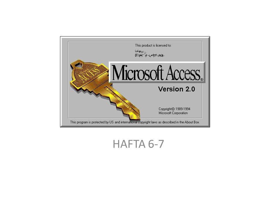 HAFTA 6-7